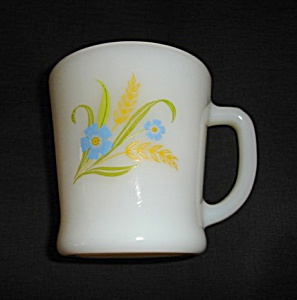 Fire King Rare Forget Me Not Mug (Image1)