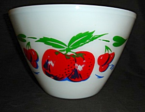 Fire King Apple & Cherries Mixing Bowl