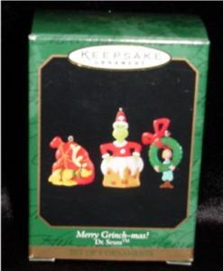 Merry Grinch-mas Miniature Hallmark Ornament (Image1)
