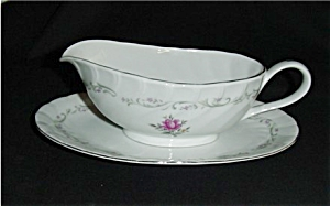 Royal Swirl Fine China Gravy Boat (Image1)