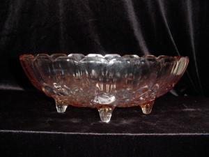 Indiana Glass Pink Four-footed Fruit Bowl