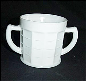 Hazel Atlas Milk Glass Sugar Bowl (Image1)