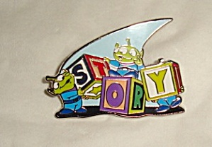 Disney Toy Story Building Blocks Pin (Image1)