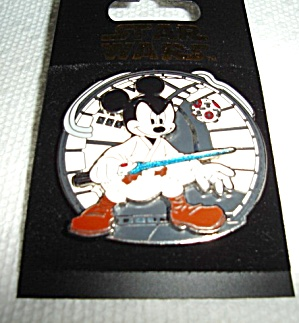 Disney Star Wars Mickey As Jedi Luke Pin