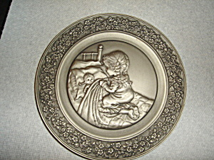 Hallmark 1979 Little Gallery Pewter  Plate (Image1)
