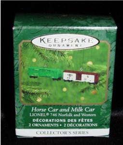 Horse Car & Milk Car Mini Hallmark Ornament (Image1)