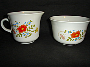 Corning Corelle Creamer and Sugar Bowl (Image1)