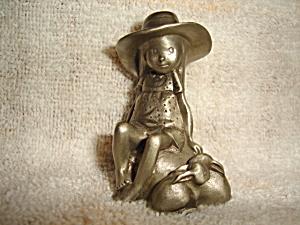 Holly Hobbie Pewter Figurine (Image1)