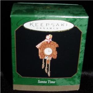 Santa Time Miniature Hallmark Ornament (Image1)