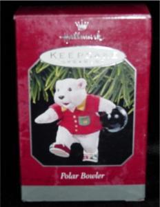 "Hallmark Ornament ""Polar Bowler"" (Image1)"