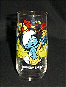Harmony Smurf Libbey Drinking Glass (Image1)