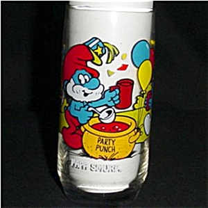 Papa Smurf Libbey Drinking Glass