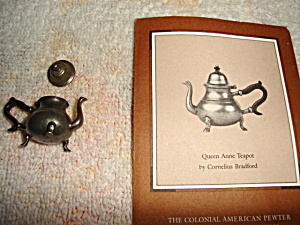 Franklin Mint Queen Anne Pewter Miniature (Image1)