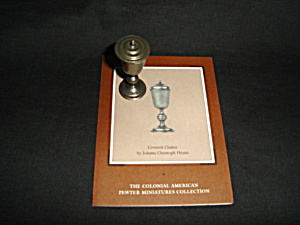 Franklin Mint Pewter Miniature Chalice
