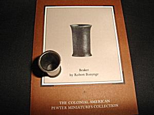Franklin Mint Beaker Pewter Miniature (Image1)
