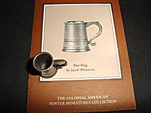 Franklin Mint Pint Mug Pewter Miniature (Image1)