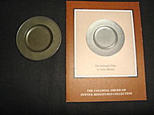 Franklin Mint Pewter Flat Brimmed Plate (Image1)