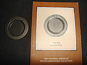 Franklin Mint Pewter Deep Dish Plate (Image1)