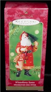 Winterberry Santa Hallmark Ornament (Image1)