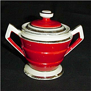 Hall's Superior Kitchenware Sugar Bowl (Image1)