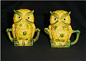 Owl Creamer, Sugar Bowl and Salt & Pepper Set (Image1)