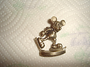 Hudson Mickey On Ice Pewter Figurine