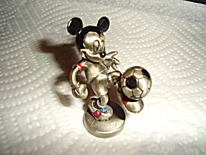Hudson Mickey Playing Soccer Pewter Figurine