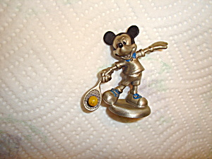 Hudson Mickey Playing Tennis Pewter Figurine