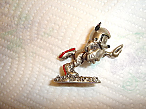 Hudson Mickey Playing Football Pewter Figurin