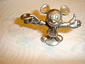 Hudson Mickey Pewter Figurine