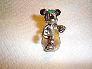 Hudson Mickey Jogging Pewter Figurine