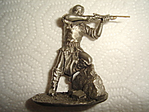 Hudson Pewter Indian Villager Figurine