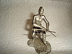 Hudson Pewter Iroquois Indian