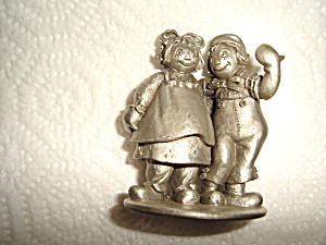 Schmid Raggedy Ann And Andy Pewter Figurine