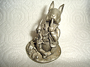 Schmid Peter Rabbit Pewter Figurine