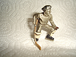 Hudson Pewter Villager Hockey Player Figurine