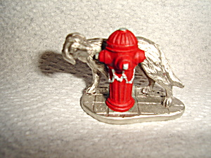 Hudson Pewter Villagers Dog And Fire Hydrant
