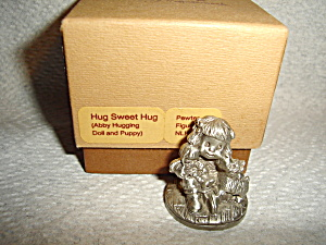 Hallmark Little Gallery Pewter Abby And Dog