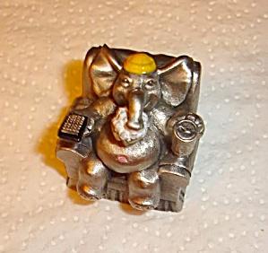 Hudson Pewter Elephant Figurine (Image1)