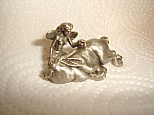 Hudson Pewter Bunny and Fairy Figurine  (Image1)