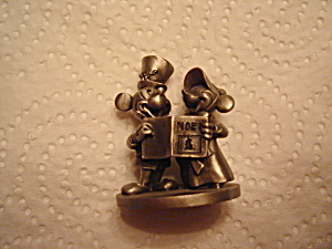 Schmid Mickey And Minnie Mouse Pewter
