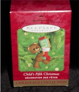 Child's Fifth Christmas Hallmark Ornament (Image1)