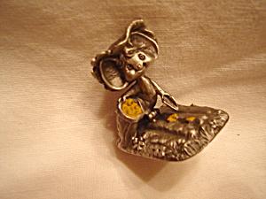 Hallmark Hudson Cheddar Mouse Pewter Figurine (Image1)
