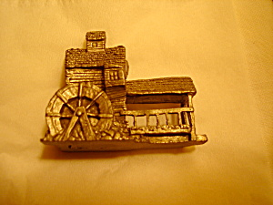 Boyd Perry Water Wheel Pewter Figurine