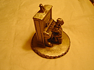 Boyd Perry Boy At Piano Pewter Figurine
