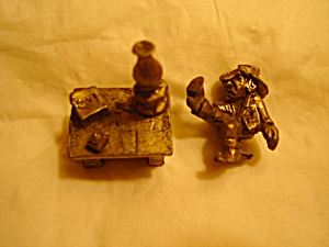 Boyd Perry Cowboy At Desk Pewter Figurine
