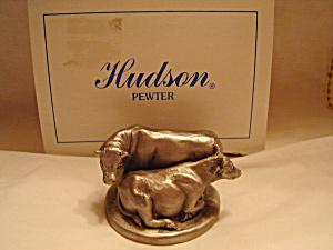 Hudson Pewter Noah's Ark Cows Pewter Figurine (Image1)