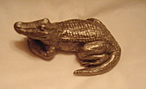 Hudson Pewter Alligator Pewter Figurine