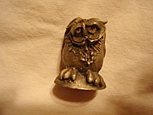 Prototype Hallmark Pewter Owl Figurine (Image1)