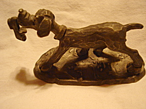 Prototype Hallmark Pewter Dog Figurine
